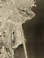historical aerial photograph Candlestick Park, Visitation Valley, San Francisco, California, 1946