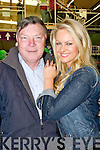 65TH: What a day for Gerry Collins who celebrated his 65th birthday on Saturday gets a big hug from Amanda Brunker who opened the show at Brownes hCastleisland Open Day of Brownes Home & Builders Providers on Saturday...........................