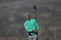 Tiernan McLarnon from Ireland on the 4th tee during Round 2 Singles of the Men's Home Internationals 2018 at Conwy Golf Club, Conwy, Wales on Thursday 13th September 2018.<br /> Picture: Thos Caffrey / Golffile<br /> <br /> All photo usage must carry mandatory copyright credit (&copy; Golffile | Thos Caffrey)