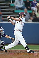 Tanner Donnels (41) of the Loyola Marymount Lions bats during a game against the TCU Horned Frogs at Page Stadium on March 16, 2015 in Los Angeles, California. TCU defeated Loyola, 6-2. (Larry Goren/Four Seam Images)