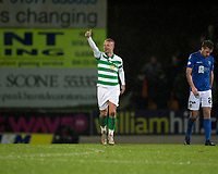 29th January 2020; McDairmid Park, Perth, Perth and Kinross, Scotland; Scottish Premiership Football, St Johnstone versus Celtic; Leigh Griffiths of Celtic celebrates after scoring for 3-0