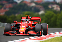 18th July 2020, Hungaroring, Budapest, Hungary; F1 Grand Prix of Hungary,  qualifying sessions;  16 Charles Leclerc MCO, Scuderia Ferrari Mission Winnow