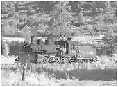 Leased D&amp;RGW K-27 #462 on Dolores wye stub track.<br /> RGS  Dolores, CO  Taken by Richardson, Robert W. - 10/10/1945