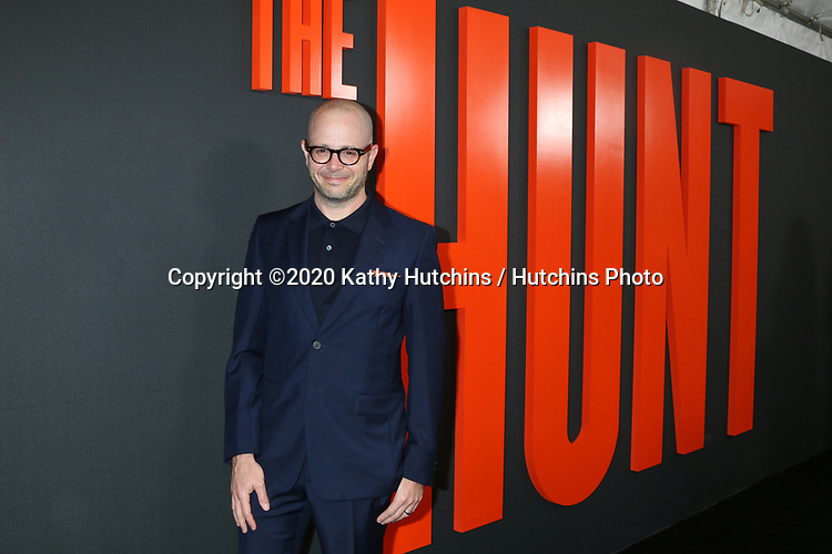 """LOS ANGELES - MAR 9:  Damon Lindelof at the """"The Hunt"""" Premiere at the ArcLight Hollywood on March 9, 2020 in Los Angeles, CA"""
