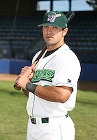 Chris Dunn of the Jamestown Jammers, Class-A affiliate of the Florida Marlins, during New York-Penn League baseball action.  Photo by Mike Janes/Four Seam Images