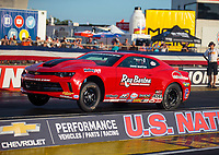 Sep 1, 2018; Clermont, IN, USA; NHRA factory stock driver David Barton during qualifying for the US Nationals at Lucas Oil Raceway. Mandatory Credit: Mark J. Rebilas-USA TODAY Sports