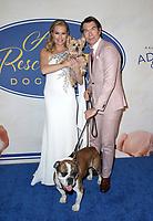 POMONA, CA - FEBRUARY 10: Rebecca Romijn, Jerry O'Connell, at the Hallmark Channel's 2019 American Rescue Dog Show at Fairplex in Pomona, California on February 10, 2019. Credit: Faye Sadou/MediaPunch