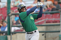 Beloit Snappers third baseman Miguel Sano #33 waits on-deck during a game against the Kane County Cougars at Fifth Third Bank Ballpark on June 26, 2012 in Geneva, Illinois. Beloit defeated Kane County 8-0. (Brace Hemmelgarn/Four Seam Images)
