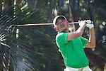 Danny Chia of Malaysia tees off during the 58th UBS Hong Kong Golf Open as part of the European Tour on 09 December 2016, at the Hong Kong Golf Club, Fanling, Hong Kong, China. Photo by Vivek Prakash / Power Sport Images