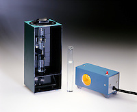 STUDENT POLARIMETER - VIEW OF EQUIPMENT<br /> Measures Rotation Of The Plane Of Polarized Light<br /> Optical activity is exhibited by molecules that have nonsuperimposable mirror images and are said to be chiral. Such molecules will rotate the plane of polarized light.