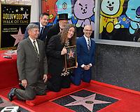 LOS ANGELES, CA. August 27, 2018: Weird Al Yankovic, Dr. Demento, Thomas Lennon, Mitch O'Farrell & Leon Gubler at the Hollywood Walk of Fame Star Ceremony honoring 'Weird Al' Yankovic.