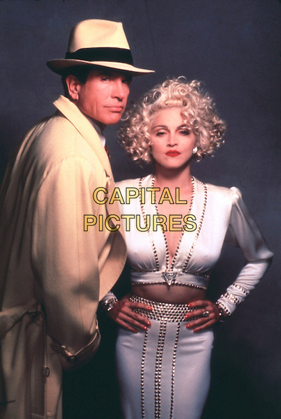 WARREN BEATTY & MADONNA.in Dick Tracy (1990).*Filmstill - Editorial Use Only*.CAP/STF/PEL.Supplied by Capital Pictures.