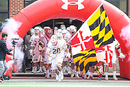 College Park, MD - February 18, 2017: Maryland Terrapins takes the field before the game between High Point and Maryland at  Capital One Field at Maryland Stadium in College Park, MD.  (Photo by Elliott Brown/Media Images International)