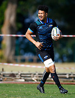 Ardie Savea during the Hurricanes training session at Northwood High School in Durban, South Africa on Tuesday, 28 May 2019. Photo: Steve Haag / stevehaagsports.com