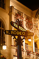 Rodeo Drive in Beverly Hills, Los Angeles, California.
