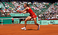 Stefanie Voegele (SUI) against Serena Williams (USA) (1) in the first round of the women's singles. Serena Williams beat Stefanie Voegele 7-6 6-2..Tennis - French Open - Day 2 - Mon 24 May 2010 - Roland Garros - Paris - France..© FREY - AMN Images, 1st Floor, Barry House, 20-22 Worple Road, London. SW19 4DH - Tel: +44 (0) 208 947 0117 - contact@advantagemedianet.com - www.photoshelter.com/c/amnimages