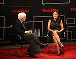 .attends TimeTalks Presents A Conversation with Julia Louis-Dreyfus and interviewer William J. Carter at The Times Center on April 13, 2012 in New York City.