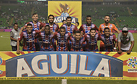 PALMIRA - COLOMBIA, 19-02-2019: Jugadores del Union posan para una foto previo al e partido por la fecha 5 de la Liga Águila I 2019 entre Deportivo Cali y Union Magdalena jugado en el estadio Deportivo Cali de la ciudad de Palmira. / Players of Union pose to a photo prior match for the date 5 as part Aguila League I 2019 between Deportivo Cali and Union Magdalena played at Deportivo Cali stadium in Palmira city.  Photo: VizzorImage / Gabriel Aponte / Staff