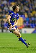 23rd March 2018, Halliwell Jones Stadium, Warrington, England; Betfred Super League rugby, Warrington Wolves versus Wakefield Trinity; Stefan Ratchford releases the ball
