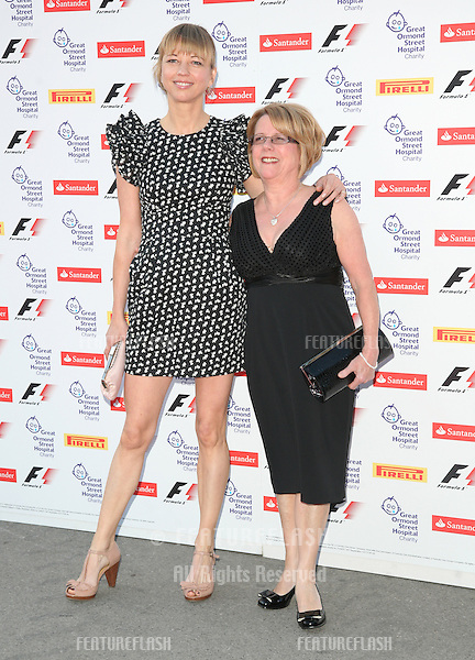 Sara Cox and mother attending the F1 Party, at the Natural History Museum, London. 06/07/2011  Picture by: Alexandra Glen / Featureflash