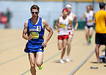 FARGO, ND - MAY 13: Kyle Burdick from South Dakota State University leads the pack in the men's 800 meter run Saturday at the 2017 Summit League Outdoor Track Championship at the Ellig Sports Complex in Fargo, ND. (Photo by Dave Eggen/Inertia)