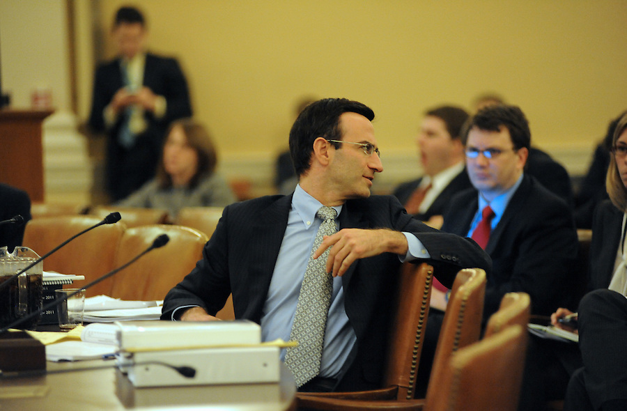 Washington, D.C.-Peter Orszag, director of the Office of Management and Budget, testifies before the House Ways and Means Committee about President Obama's proposed fiscal 2011 budget on Feb. 3, 2009. (Amanda Lucidon)