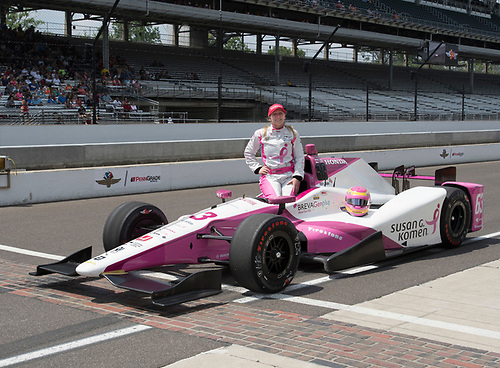 21-22 May, 2016, Indianapolis, Indiana, USA<br /> Pippa Mann qualification photo <br /> ©2016, Geoffrey M. Miller<br /> LAT Photo USA