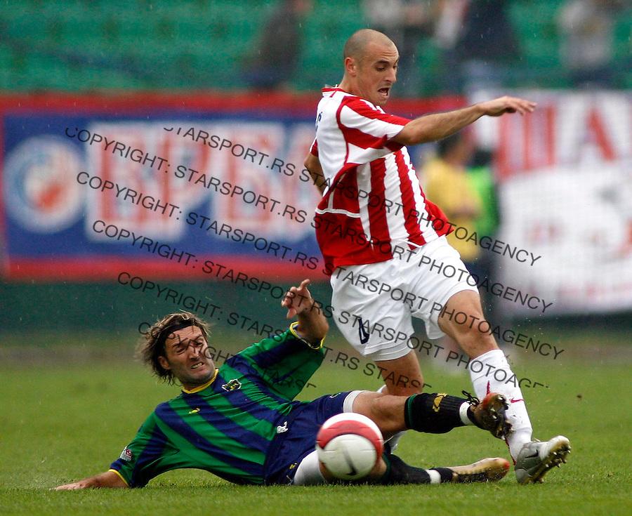 Fudbal, SUPER LIGA, season 2006/07&amp;#xA;Zemun-Crvena Zvezda&amp;#xA;Aleksandar Pantic, right, and Milan Mester&amp;#xA;Beograd, 20.09.2006.&amp;#xA;foto: SRDJAN STEVANOVIC<br />