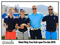 Chris Paisley (ENG) team on the 10th tee during Wednesday's Pro-Am of the 2018 Dubai Duty Free Irish Open, held at Ballyliffin Golf Club, Ireland. 4th July 2018.<br /> Picture: Eoin Clarke | Golffile<br /> <br /> <br /> All photos usage must carry mandatory copyright credit (&copy; Golffile | Eoin Clarke)