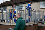 Edinburgh University 3 Selkirk 2, 13/03/2016. Peffermill, Scottish Lowland League. Visiting players walking towards the dressing rooms after the final whistle as Edinburgh University took on Selkirk in a Scottish Lowland League match at Peffermill, Edinburgh in a game the hosts won 3-2. The match was one of six attended by members of GroundhopUK over the weekend to accommodate groundhoppers, fans who attempt to visit as many football venues as possible. Around 100 fans in two coaches from England participated in the 2016 Lowland League Groundhop and they were joined by other individuals from across the UK which helped boost crowds at the six featured matches. Photo by Colin McPherson.