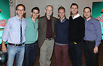 Director John Rando, Benj Pasek, Joseph Robinette,  Justin Paul, Warren Carlyle and Gerald Goehring attends the Meet & Greet for 'A Christmas Story, The Musical' at the New 42nd Street Studios on 10/22/2012 in New York City.