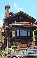 Greene & Greene: Thorsen House 1908. Piedmont, corner.  Photo '78.