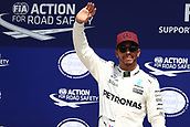 June 10th 2017, Circuit Gilles Villeneuve, Montreal Quebec, Canada; Formula One Grand Prix, Qualifying sessions; Lewis Hamilton - Mercedes AMG Petronas F1 W08 takes pole