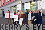 Kerry Organisations protesting against the Budget cuts outside the AIB bank in Castle street on Tuesday.