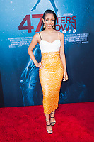 Los Angeles, CA - AUGUST 13th: <br /> Corinne Foxx attends the 47 Meters Down premiere at the Regency Village Theater on August 13th 2019. Credit: Tony Forte/MediaPunch