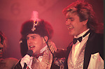Holly Johnson of Frankie Goes To Hollywood with Simon LeBon of Duran Duran live at The Ritz in NYC 1984.