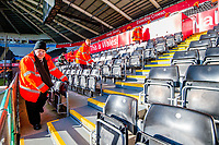 Stewards check seats <br /> Re: Behind the Scenes Photographs at the Liberty Stadium ahead of and during the Premier League match between Swansea City and Bournemouth at the Liberty Stadium, Swansea, Wales, UK. Saturday 25 November 2017