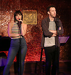 "Krista Rodriguez and Nick Blaemire from the cast of ""The Jonathan Larson Project"" during the press preview on October 3, 2018 at Feinstein's/54 Below in New York City."