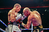 30th September 2017, Echo Arena, Liverpool, England; Matchroom Boxing, Eliminator for WBA Bantamweight World Championship;  Paul Butler versus Stuart Hall; Paul Butler hits Stuart Hall with a uppercut