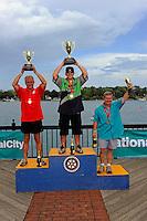 26  July, 2009, Trenton, Michigan USA.(Lto R) Butch Ott (#78, 2nd) SST-45 class World Champ Jason Nelson (#18) and Bud Nollman (#6, 3rd)..©2009 F.Peirce Williams USA.SST-45 class