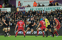 Ospreys' Nicky Smith in action during todays match<br /> <br /> Photographer Ashley Crowden/CameraSport<br /> <br /> Guinness Pro14 Round 6 - Ospreys v Scarlets - Saturday 7th October 2017 - Liberty Stadium - Swansea<br /> <br /> World Copyright &copy; 2017 CameraSport. All rights reserved. 43 Linden Ave. Countesthorpe. Leicester. England. LE8 5PG - Tel: +44 (0) 116 277 4147 - admin@camerasport.com - www.camerasport.com