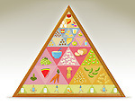 Illustrative image of pyramid representing healthy lifestyle