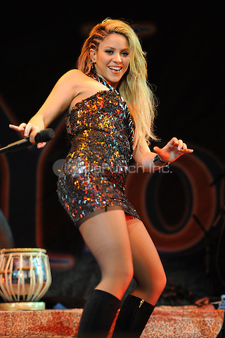 SUNRISE, FL - DECEMBER 12 : Shakira performs at the Y-100 Jingle ball held at the Bank Atlantic center on December 12, 2009 in Fort Lauderdale Florida. Credit: mpi04/MediaPunch