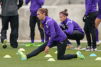 Bridgeview, IL, USA - Sunday, May 1, 2016: Orlando Pride forward Alex Morgan (13) before a regular season National Women's Soccer League match between the Chicago Red Stars and the Orlando Pride at Toyota Park. Chicago won 1-0.