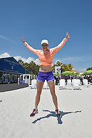 KEY BISCAYNE, FL - MARCH 24: (EXCLUSIVE COVERAGE) Caroline Wozniacki of Denmark jumps for joy prior to the start of the Miami Open at the Crandon Park Tennis Center on March 24, 2015 in Key Biscayne, Florida.<br /> <br /> <br /> People:  Caroline Wozniacki<br /> <br /> Transmission Ref:  FLXX<br /> <br /> Must call if interested<br /> Michael Storms<br /> Storms Media Group Inc.<br /> 305-632-3400 - Cell<br /> 305-513-5783 - Fax<br /> MikeStorm@aol.com