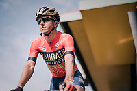 Domenico Pozzovivo (ITA/Bahrain-Merida) at the pre-race sign-on<br /> <br /> 104th Li&egrave;ge - Bastogne - Li&egrave;ge 2018 (1.UWT)<br /> 1 Day Race: Li&egrave;ge - Ans (258km)