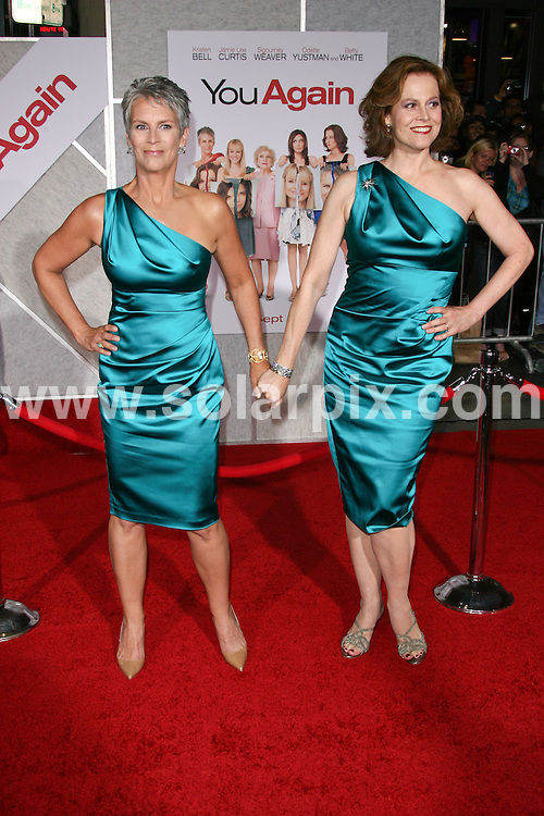 **ALL ROUND PICTURES FROM SOLARPIX.COM**                                             **SYNDICATION RIGHTS FOR UK, AUSTRALIA, DENMARK, PORTUGAL, S. AFRICA, SPAIN & DUBAI (U.A.E) & ASIA (EXCLUDING JAPAN) ONLY**                                                                                  Caption:  You Again Los Angeles Premiere - Arrival, El Capitan Theatre, CA, USA, 22 September 2010                                                                             This pic: Jamie Lee Curtis and Sigourney Weaver                                                                                          JOB REF: 12175    PHZ charlotte    DATE: 22_09_2010                                                            **MUST CREDIT SOLARPIX.COM OR DOUBLE FEE WILL BE CHARGED**                                                                      **MUST AGREE FEE BEFORE ONLINE USAGE**                               **CALL US ON: +34 952 811 768 or LOW RATE FROM UK 0844 617 7637**