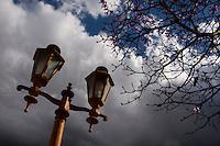 Cruzilia_MG, Brasil...Iluminacao publica da praca Capitao Maciel...A public lighting in the Capitao Maciel square...Foto: MARCUS DESIMONI / NITRO
