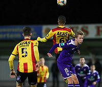 20191125 - WOLVERTEM: Mechelen's Aser Vranckx (6) and Anderlecht's Michel Vlap (15) battle for the ball during the Belgian Elite U21 league football match between RSC Anderlecht U21 and KV Mechelen U21 on Monday 25th of November 2019 at F. Lathouwersstadion, Wolvertem Belgium. PHOTO: SEVIL OKTEM | SPORTPIX.BE
