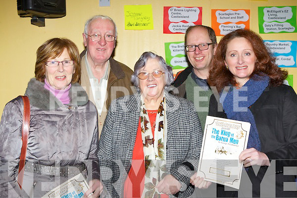 Attending the first night of the Sliabh Luachra Drama Group play The King of the Barna  Men in Scartaglen on Sunday night l-r: Anne Stack, Eamon O'Connor, Kitty O'Connor, Andrew Eadie and Yvonne Eadie Killarney